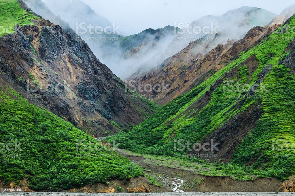 Mists in the Mountains stock photo