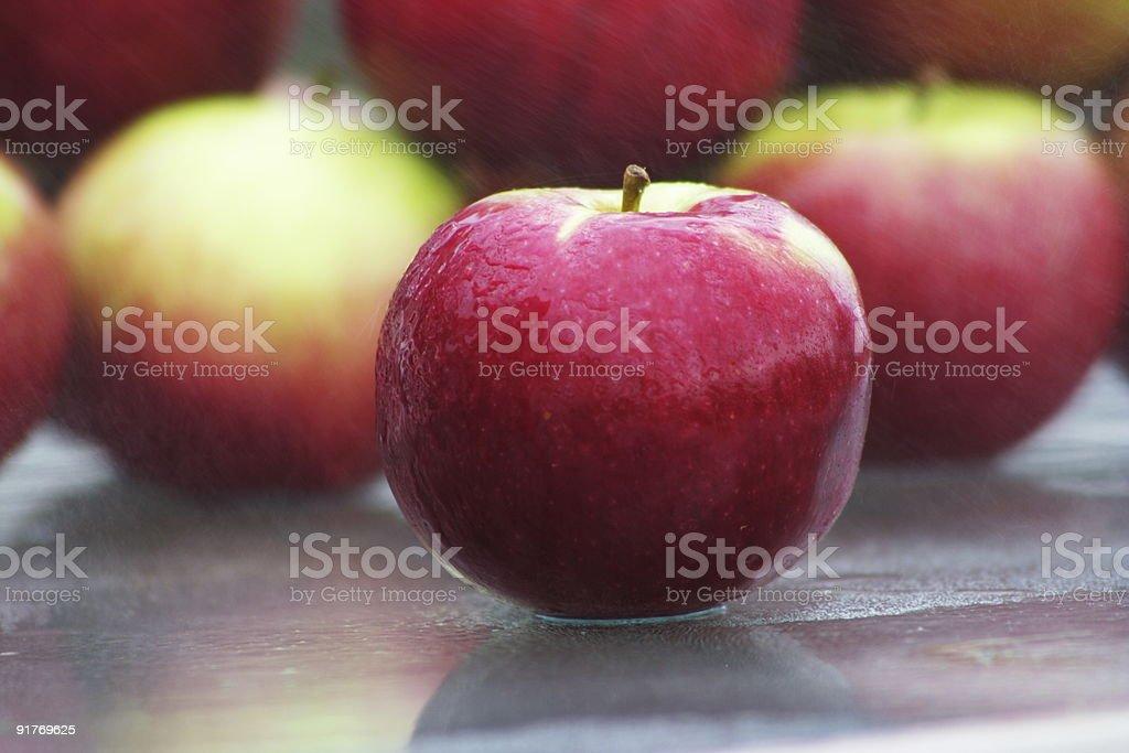 misty apple stock photo