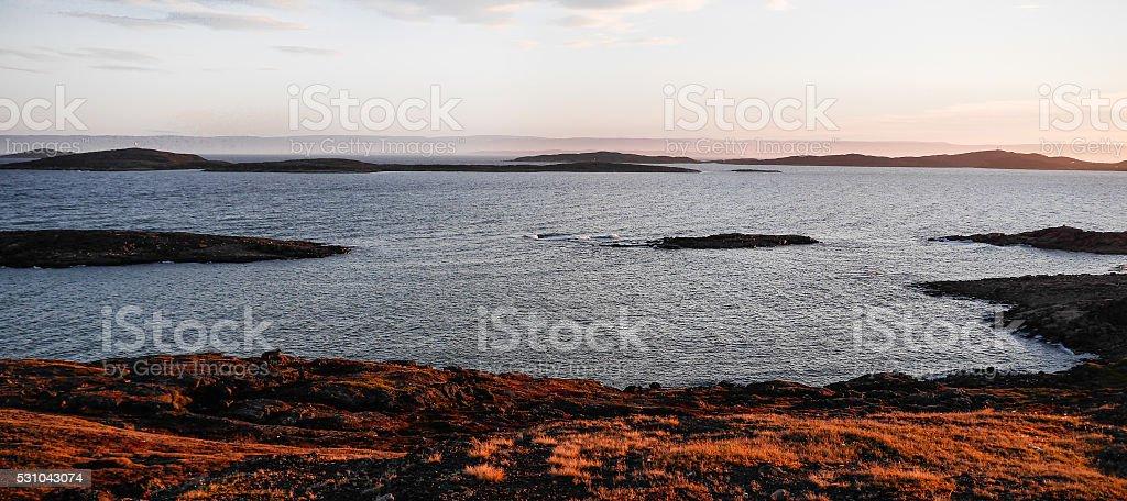 Misty Bay stock photo