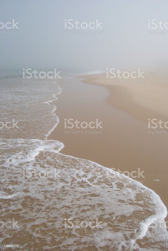 Misty beach royalty-free stock photo