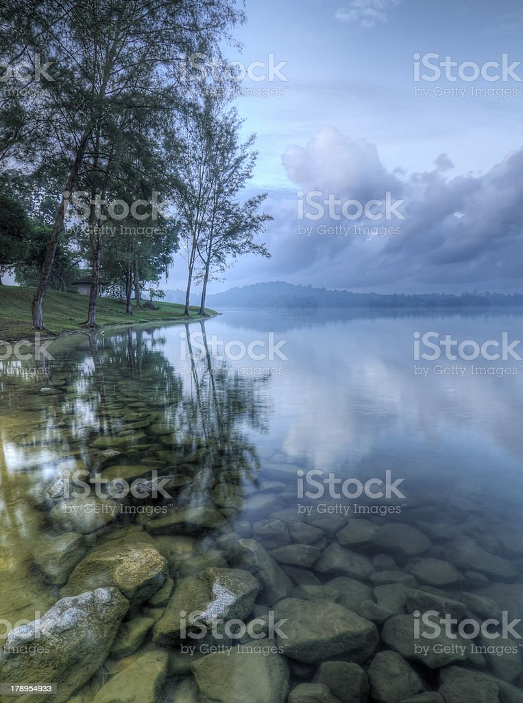 Misty Blue Morning royalty-free stock photo