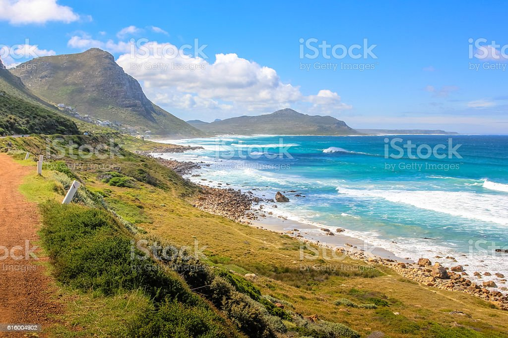 Misty Cliffs in South Africa stock photo