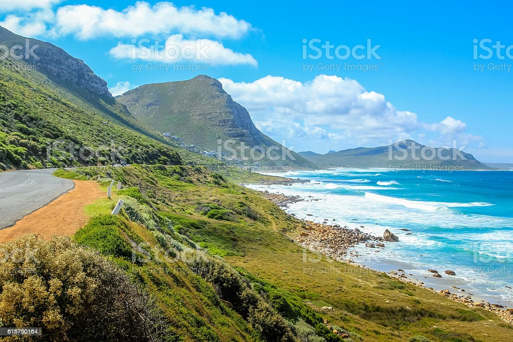 Misty Cliffs South Africa stock photo