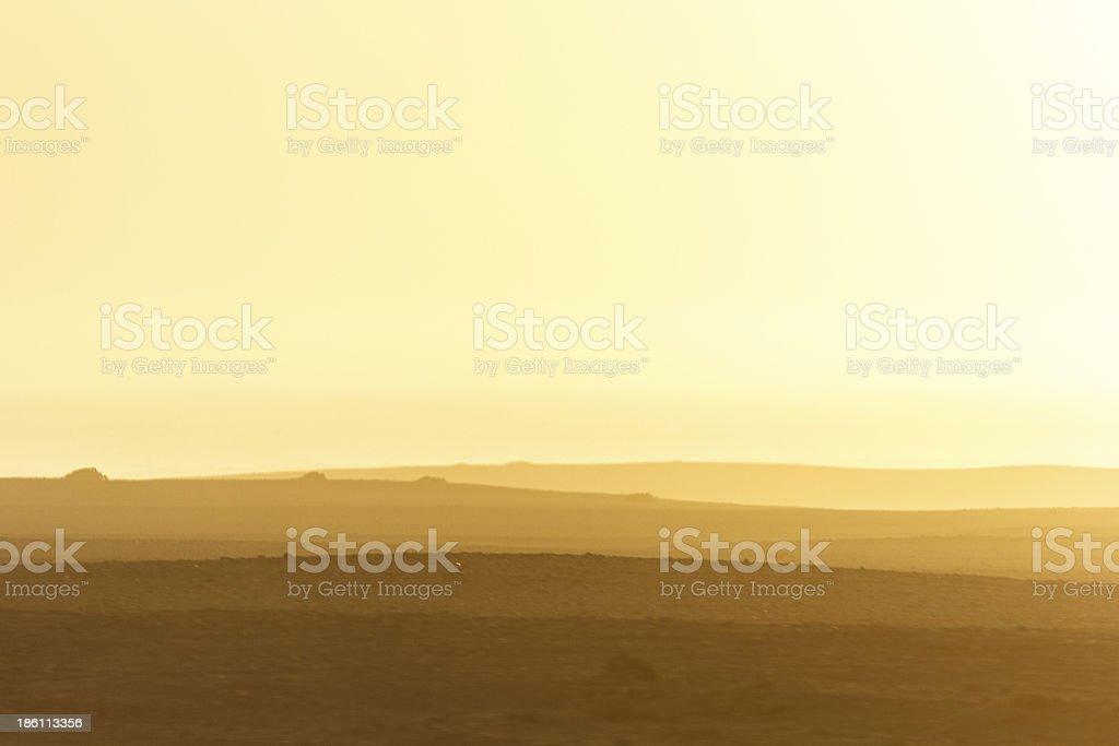 Misty Coast at sunset royalty-free stock photo