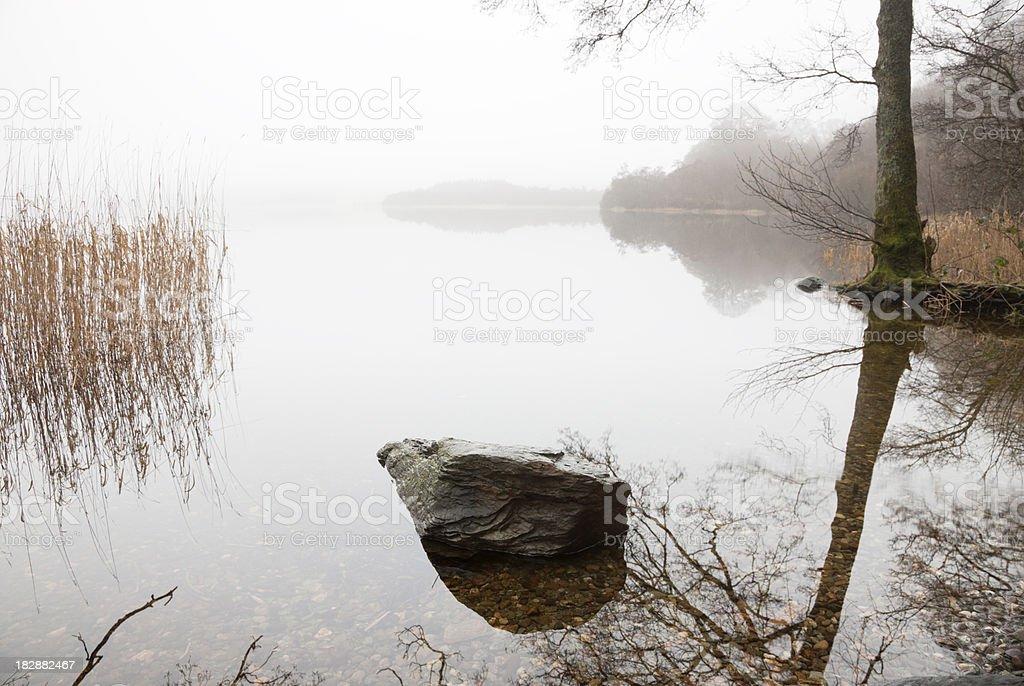 Misty Dawn at Balmaha royalty-free stock photo