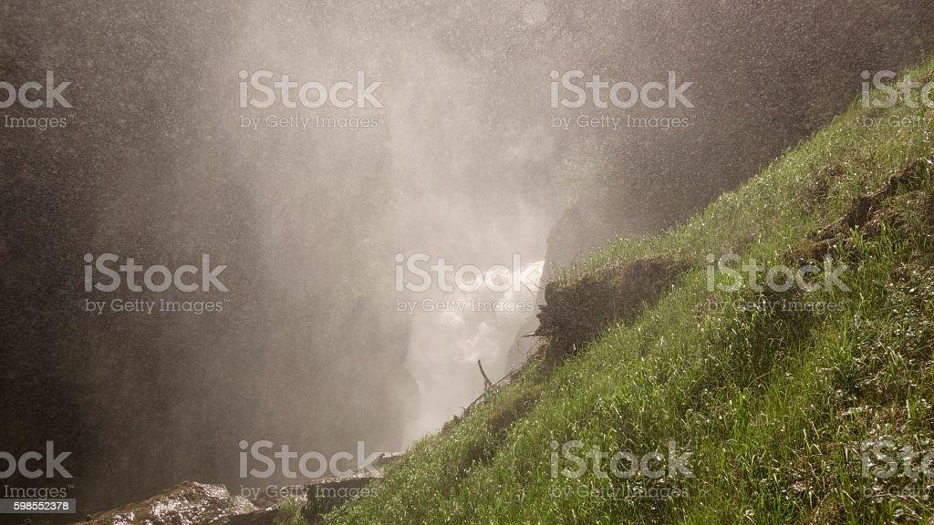Misty Falls stock photo