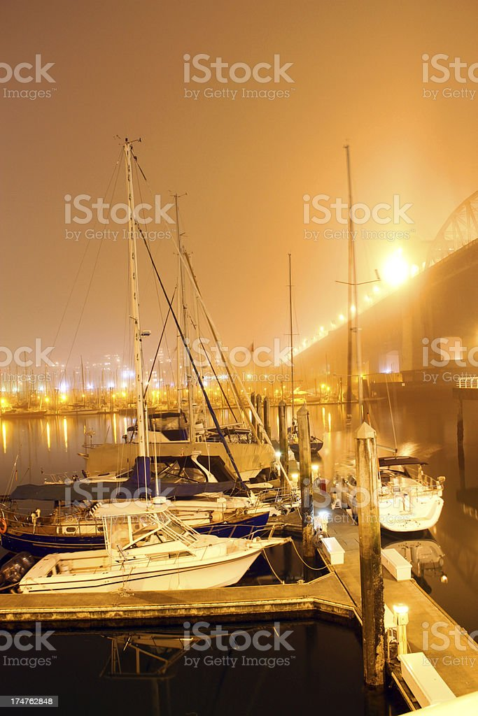 Misty False Creek royalty-free stock photo