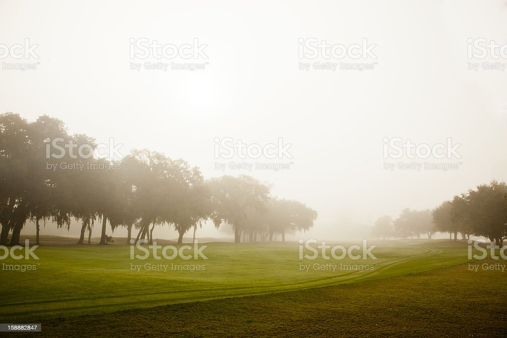 Misty Golf Course stock photo