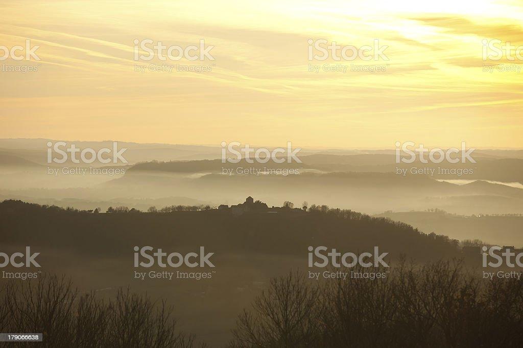 misty hills royalty-free stock photo