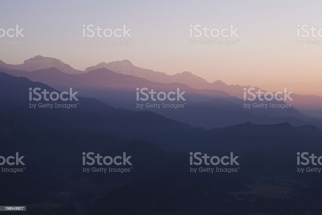 Misty Himalaya stock photo