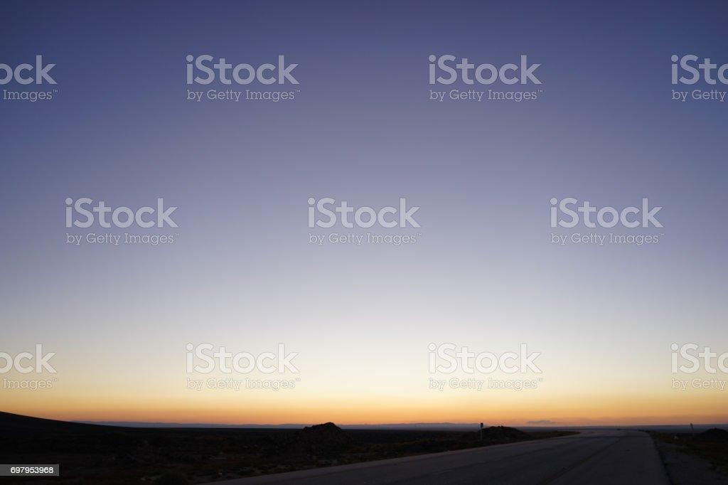 Misty horizon stock photo