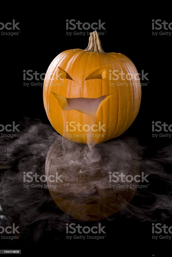 Misty Jack-o-Lantern stock photo