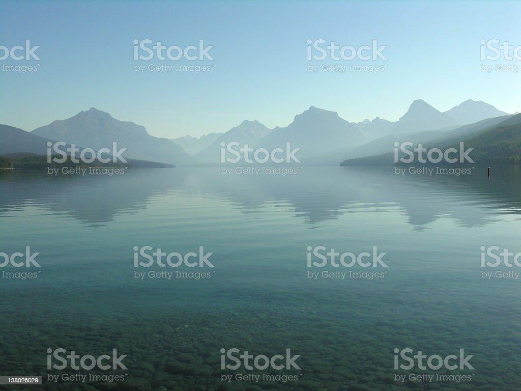 Misty Lake Mcdonald stock photo