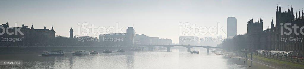Misty London morning stock photo