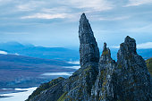 Misty morning at The Old Man of Storr, Scotland