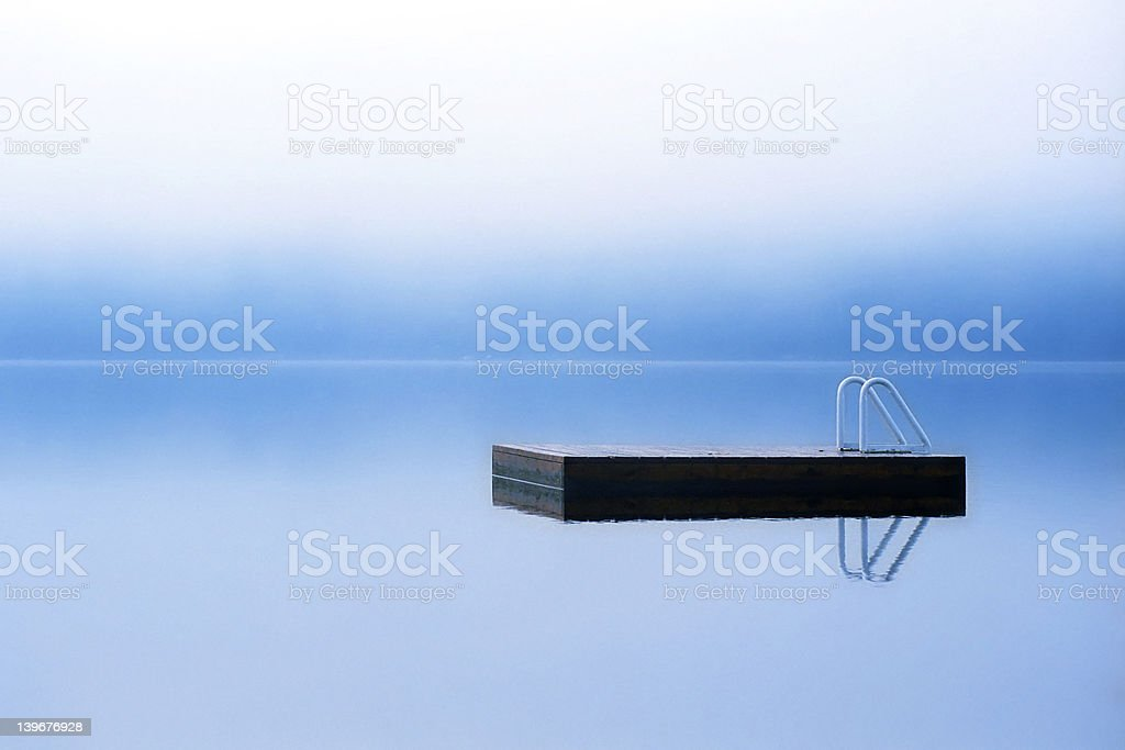 Misty morning dock royalty-free stock photo