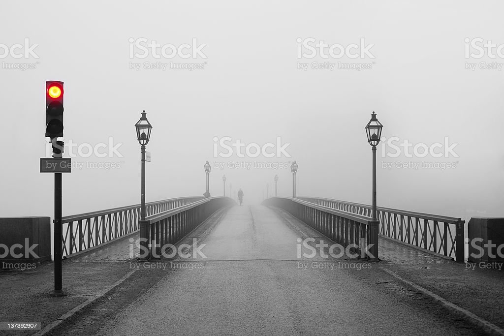 Misty morning in Stockholm royalty-free stock photo