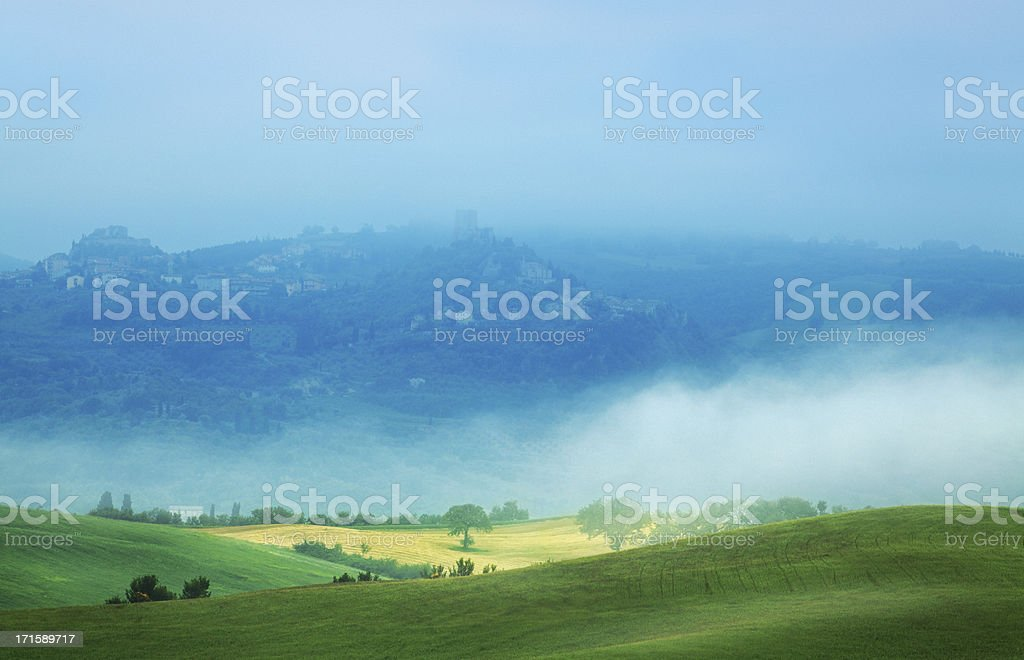 misty morning in Tuscany royalty-free stock photo