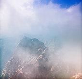 Misty Mount Hua, Shanaxi province, China