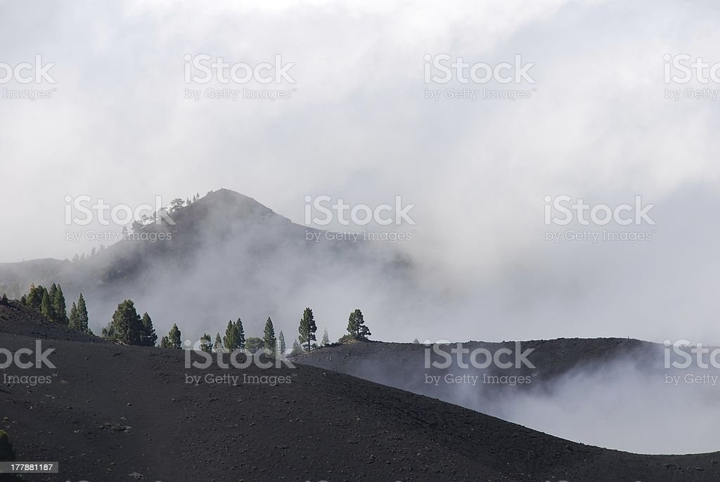 misty mountain top royalty-free stock photo
