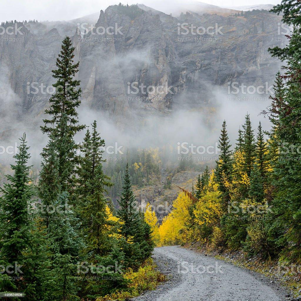 Misty Mountain Trail - Square stock photo