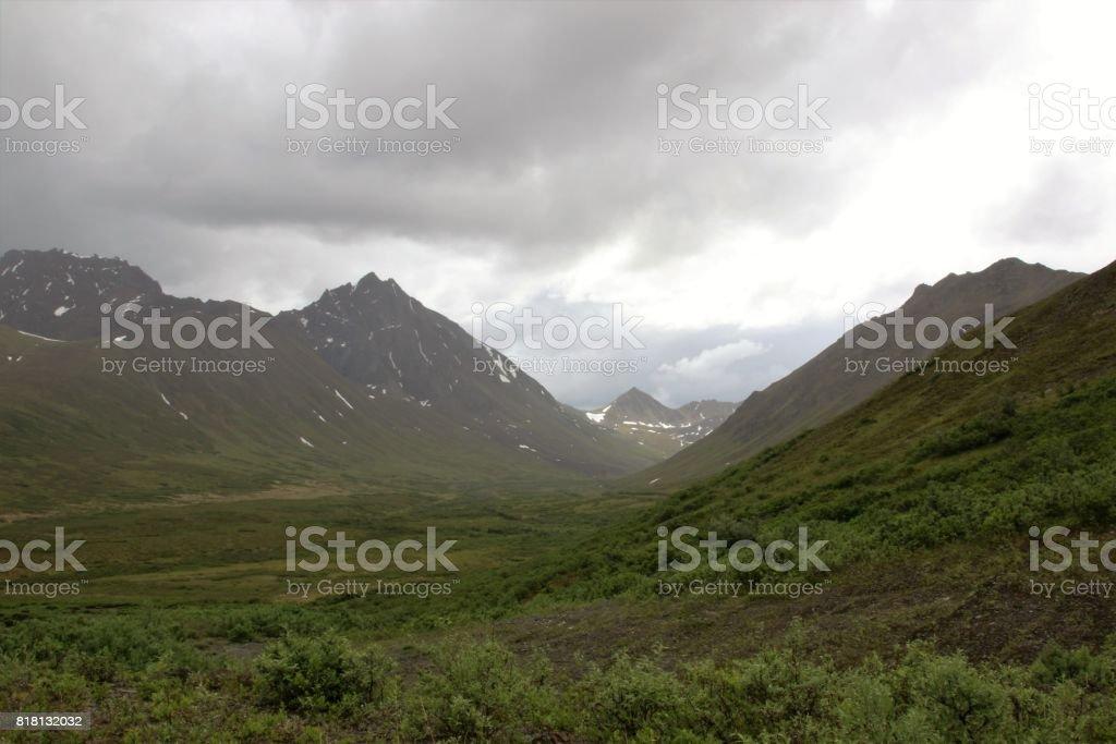 Misty Mountain Valley stock photo
