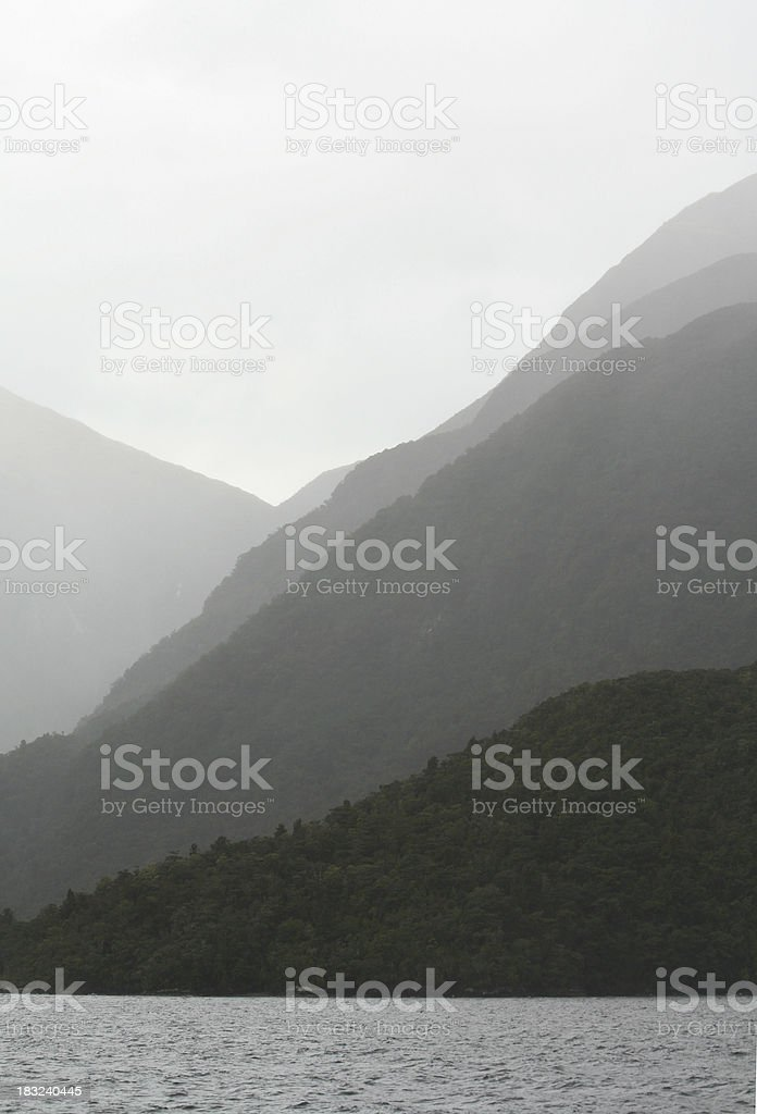 Misty Mountains 3 stock photo