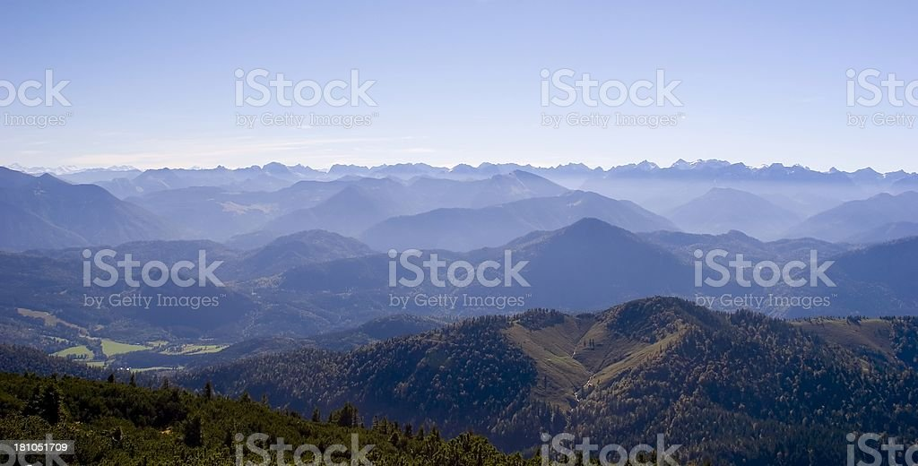 Misty mountains royalty-free stock photo