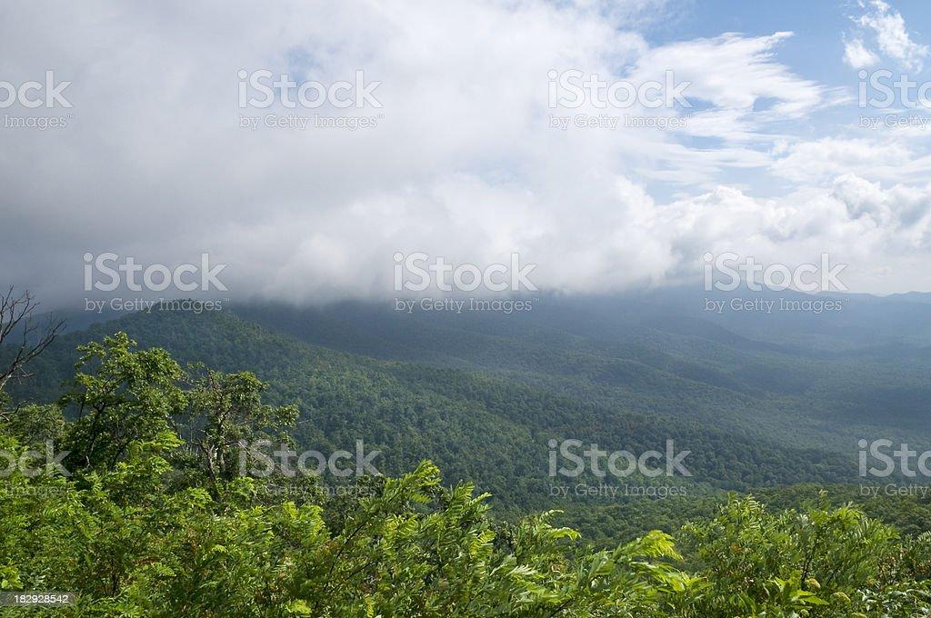 Misty Mountains royalty-free stock photo