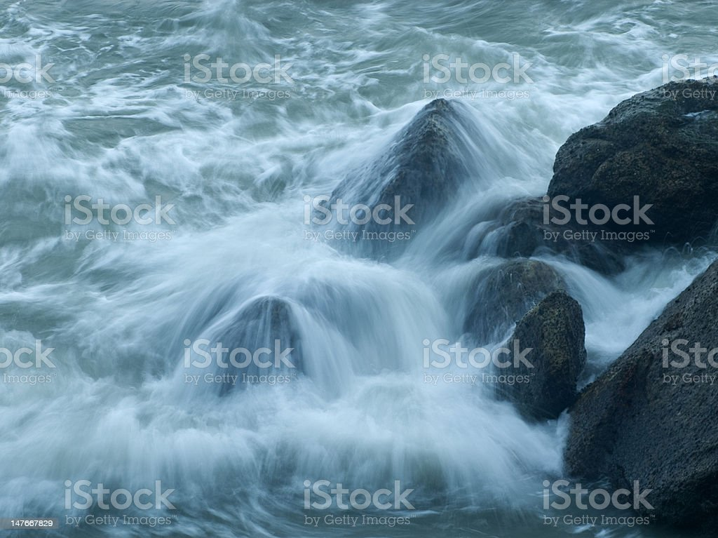 Misty seawater splash royalty-free stock photo