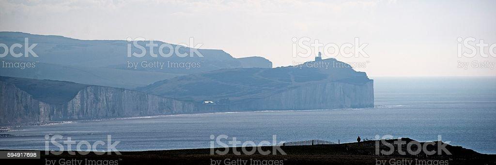 Misty Seven Sisters morning stock photo