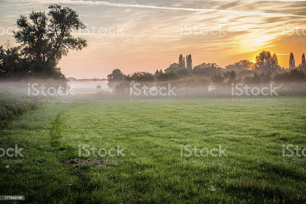 misty sunrise 001 stock photo