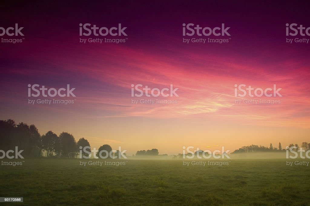 Misty Sunrise royalty-free stock photo