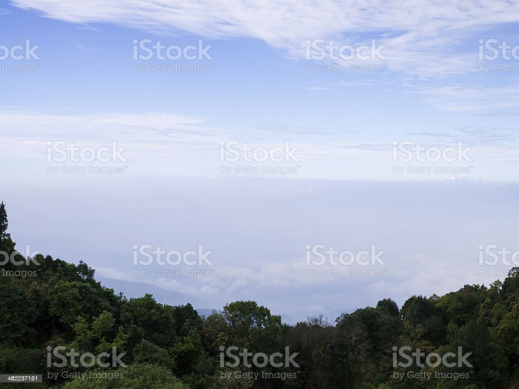 misty view on the mountain royalty-free stock photo