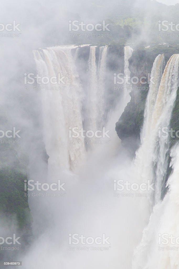 Misty waterfall stock photo