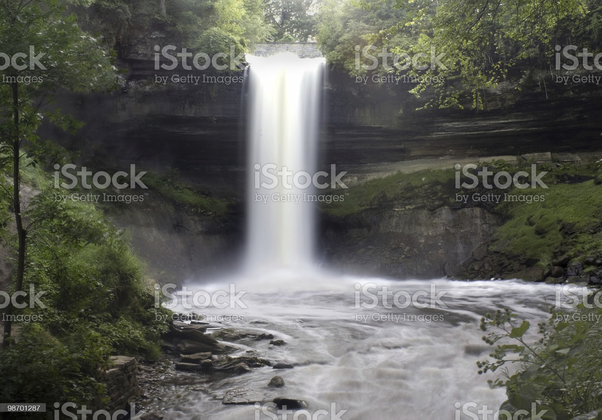 Misty Waterfall royalty-free stock photo