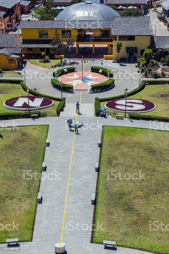 Mitad Del Mundo Village, Ecuador stock photo