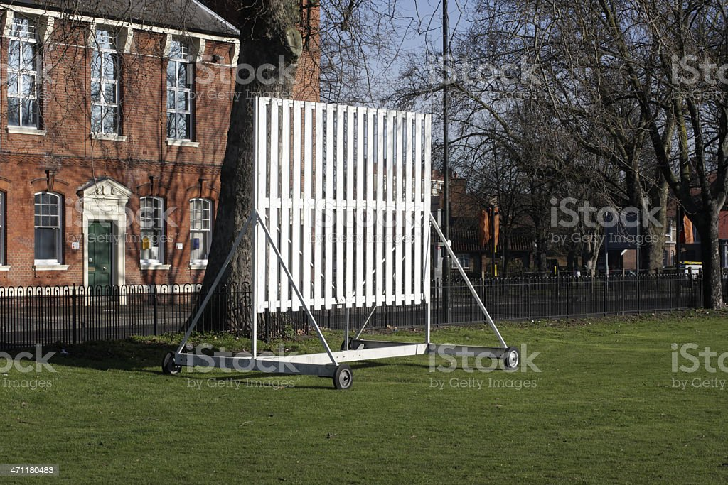 Cricket sightscreen makes for better viewing during play stock photo