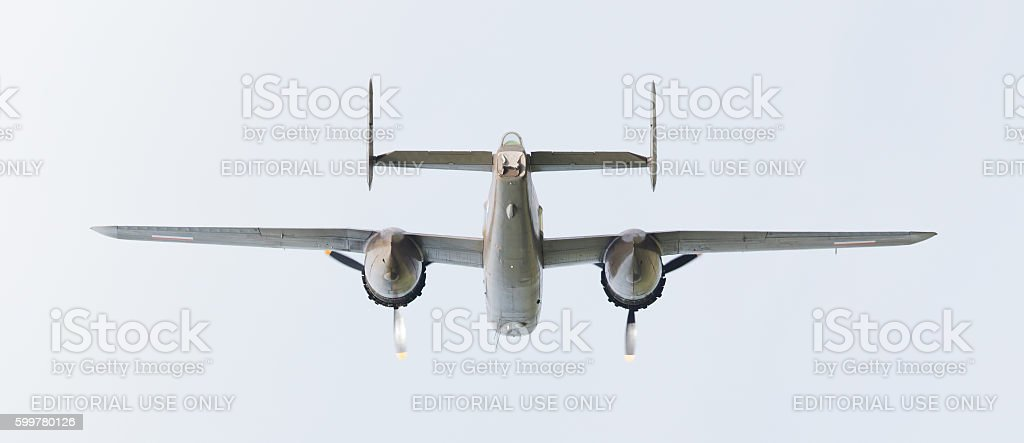 WW2 B-25 Mitchell bomber stock photo