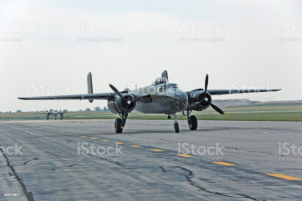 B-25 Mitchell bomber royalty-free stock photo