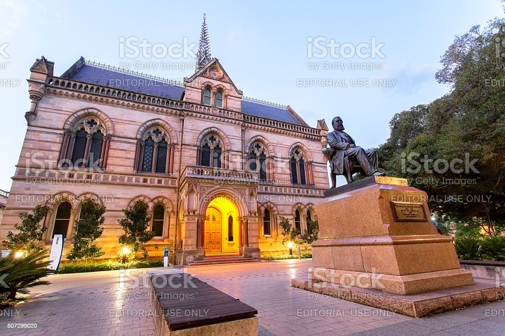 Mitchell Building, University of Adelaide stock photo
