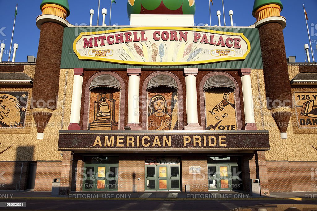 Mitchell's Corn Palace stock photo