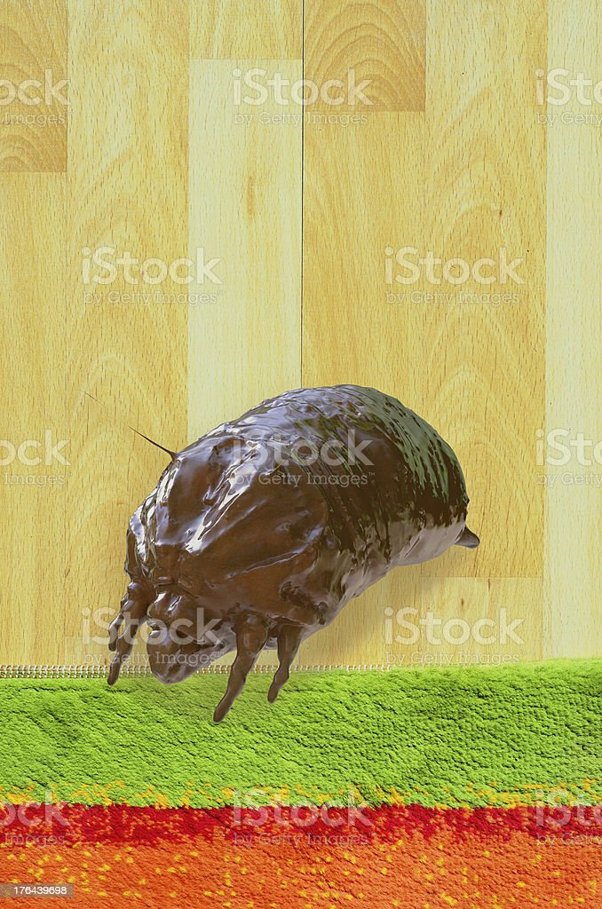 Mite - 3d rendered illustration royalty-free stock photo