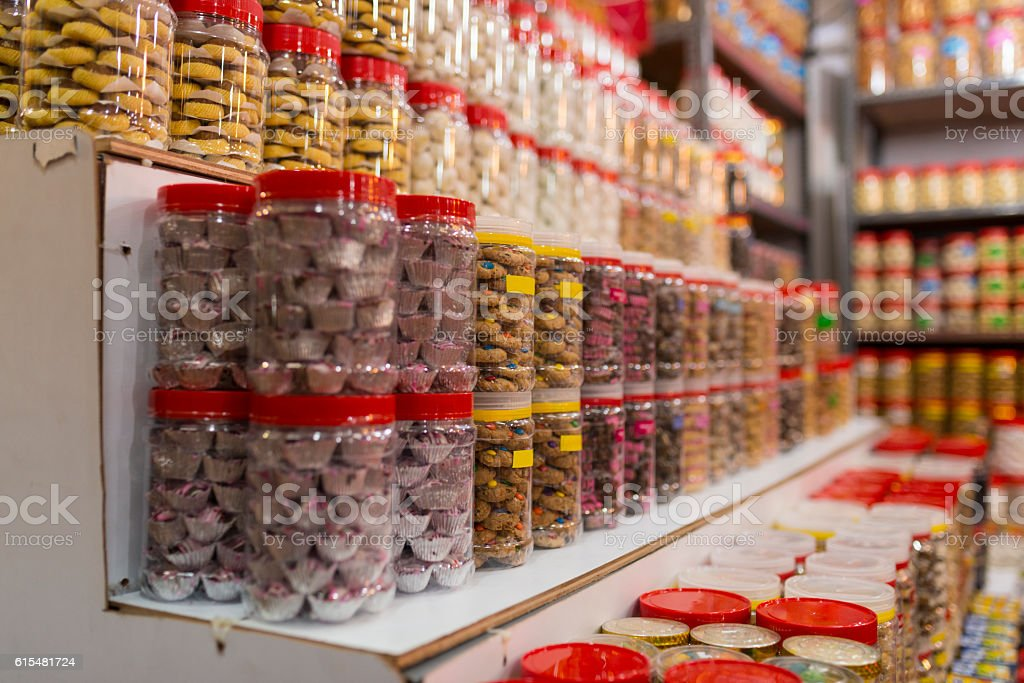 Mithai, Candies and Pastries for Sale stock photo