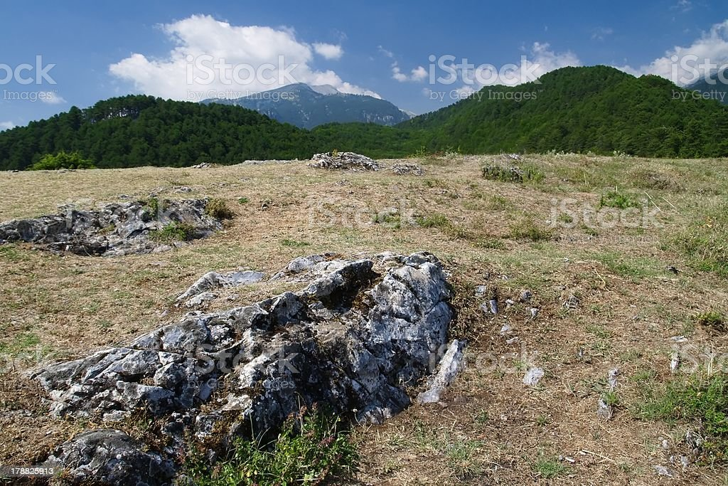 Mitikas - the highest peak in Greece stock photo