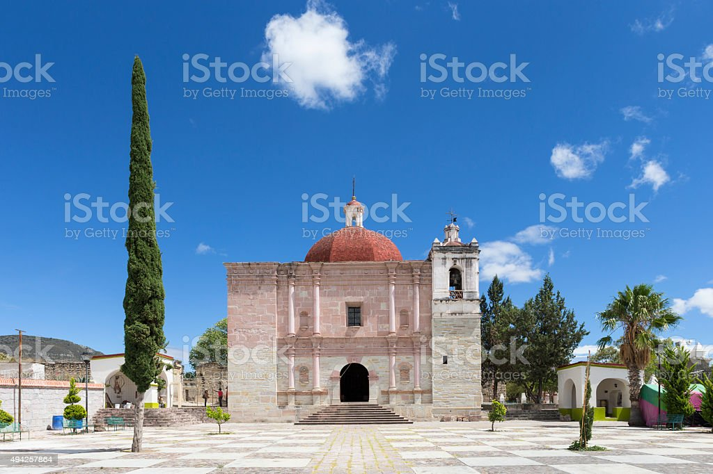 Mitla, Oaxaca, Mexico stock photo