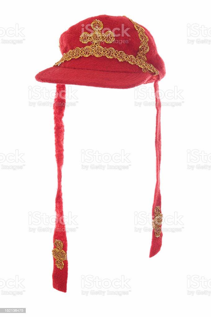 mitre - the hat of Saint Nicholas stock photo