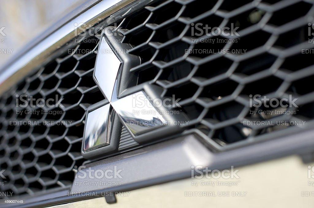Mitsubishi grille stock photo