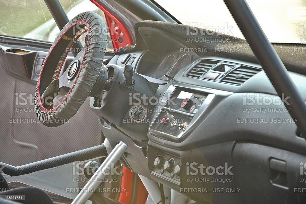 Mitsubishi Lancer Evolution VIII rally car stock photo