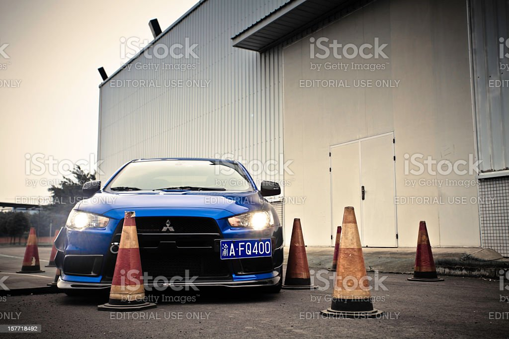 Mitsubishi Lancer Evolution X royalty-free stock photo